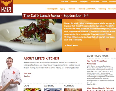 Life's Kitchen Website